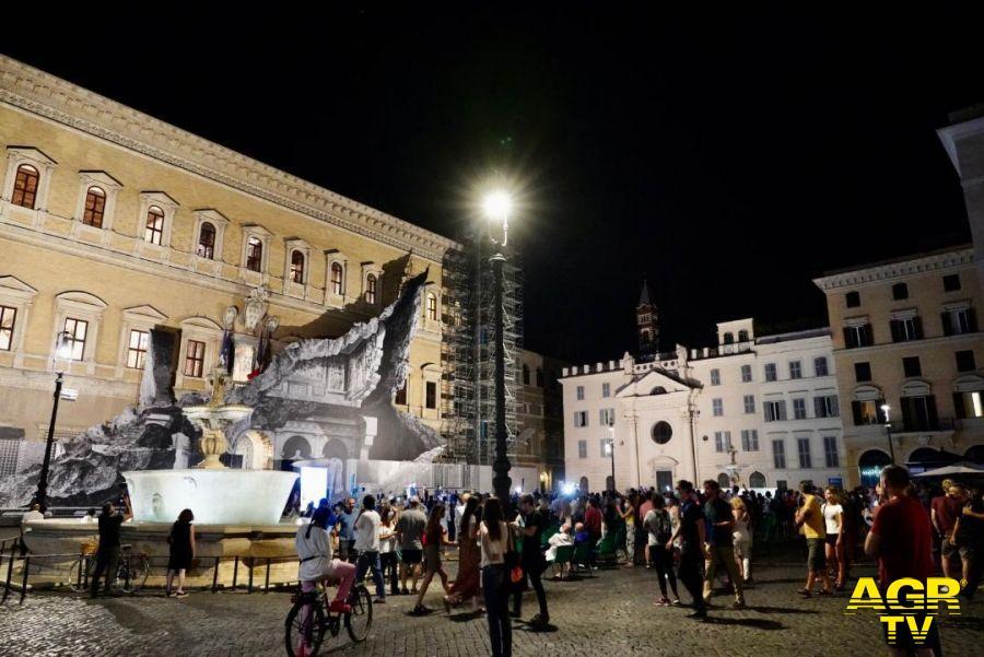 nuova illuminazione piazza Farnese foto campidoglio