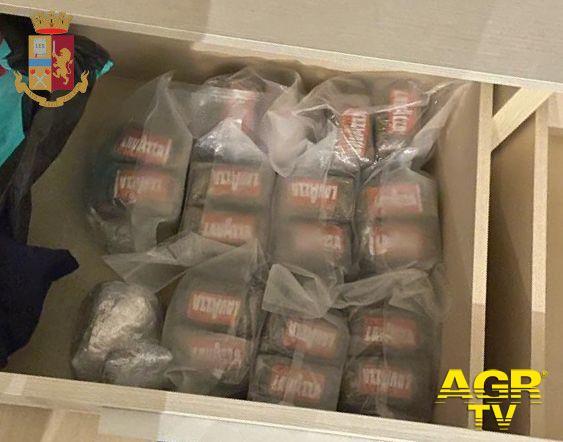 Guidonia, maxi sequestro di droga, in manette pusher 30enne