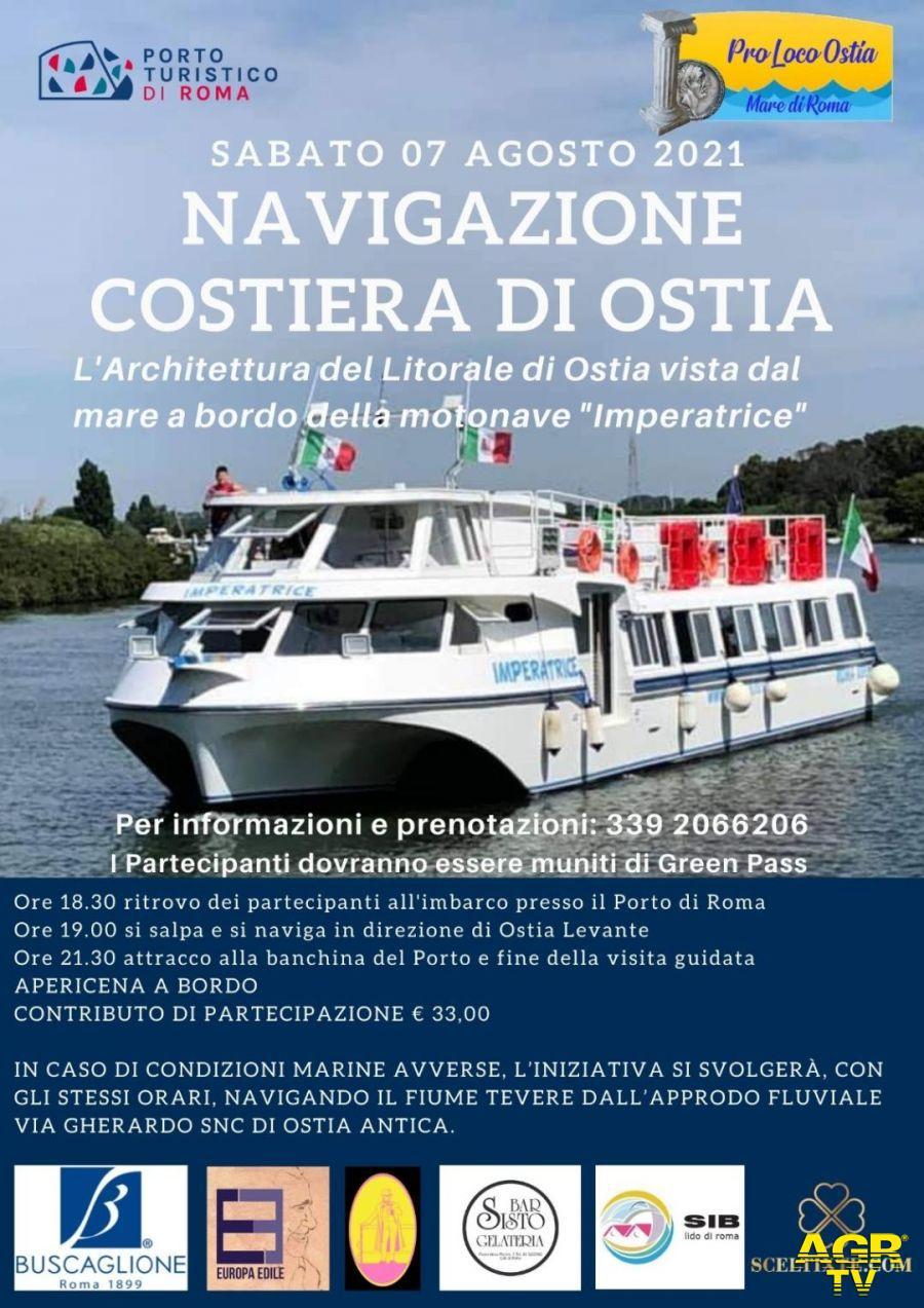 Navigazione costiera di Ostia, appuntamento al porto il prossimo 7 agosto