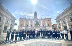 Unità d'ascolto polizia locale con sindaca Raggi in Campidoglio