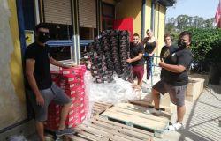 ADR, donazione alla Protezione civile di Fiumicino, scarpe antifortunistica