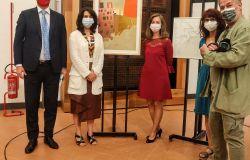 Foto evento Direttore Eike Schmidt insieme  agli eredi del pittore .