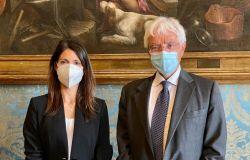 sindaca Raggi e presidente Fondazione Tim Rossi