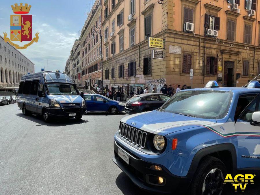 Roma, stretta della polizia su piazza Mancini e Termini, in manette un peruviano