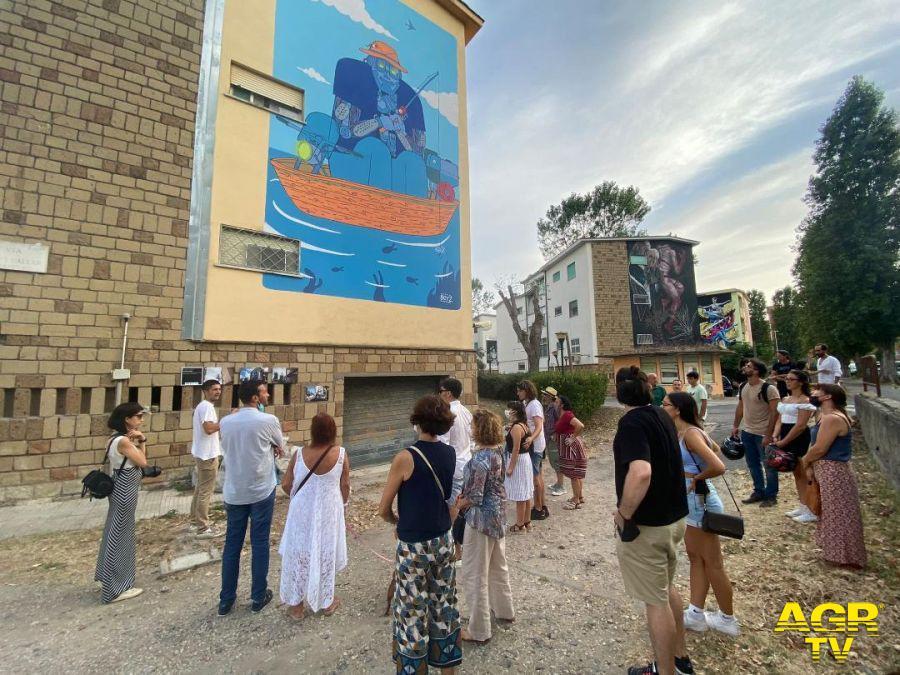 Fiumicio villaggio azzurro murales