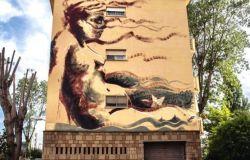 fiumicino villaggio azzurro murales