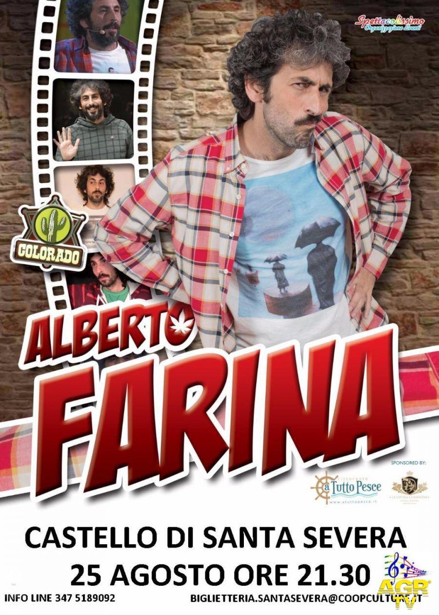 Santa Severa, al Castello la comicità di Alberto Farina.