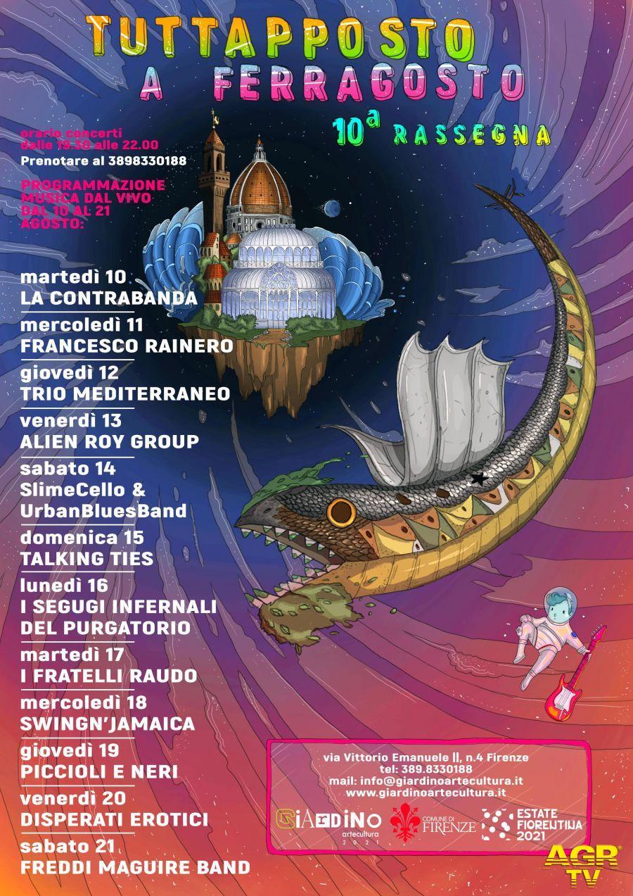 Redazione di Met Le serate in musica gratuite di Tuttapposto a ferragosto e gli eventi di settembre al giardino dell'Orticoltura a Firenze
