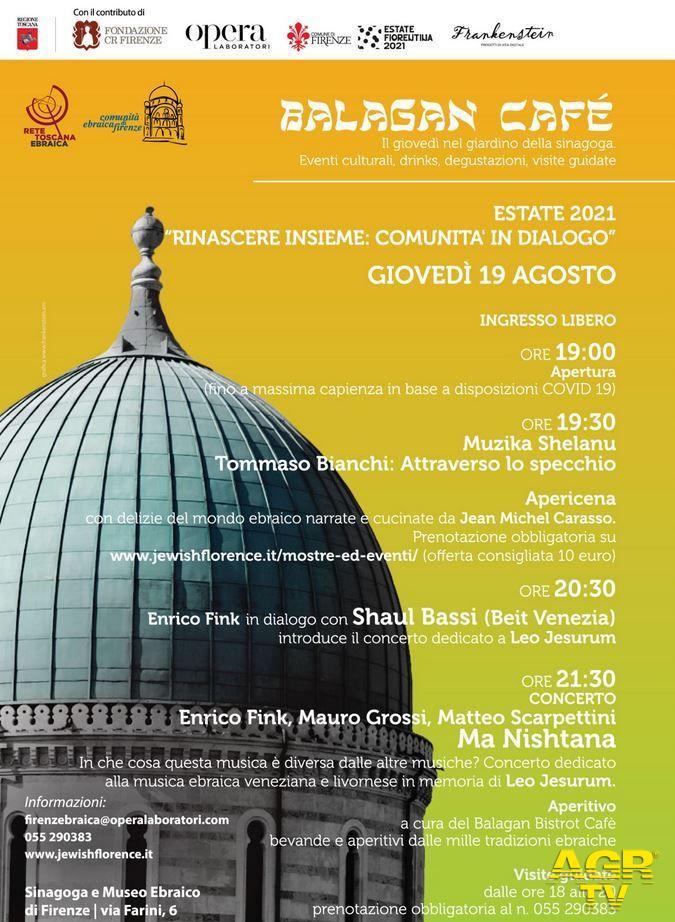 """Redazione di Met """"Balagàn Cafè"""". Quarto appuntamento giovedì 19 agosto nel giardino della Sinagoga"""