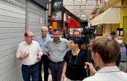 Bordoni con Salvini nei mercati di Roma