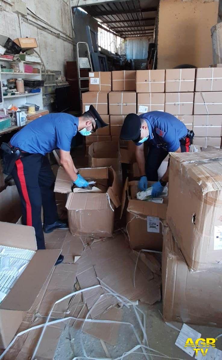 carabinieri capannone rignano flaminio alterazione confezioni test anti covid