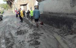 fango per la strada