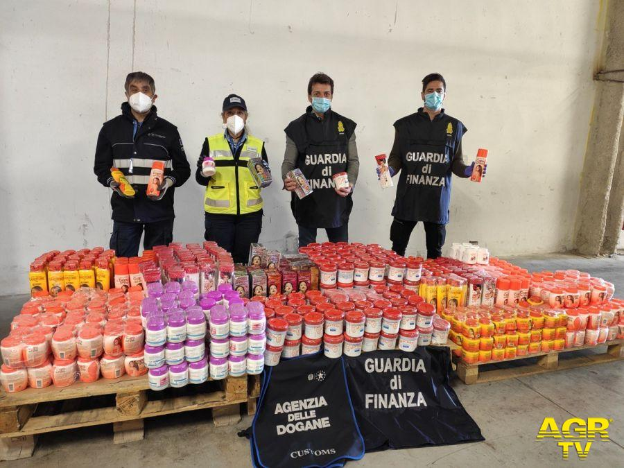 Agenzia Dogane Monopoli Firenze: sequestrati 345 Kg di cosmetici contenenti Idrochinone