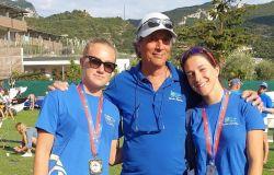 Chiara Spota e Chiara Ingrassia con il coach Marco Rossi