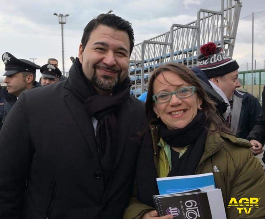 Il v.presidente Alessandro Ieva con Silvana De Nicolò