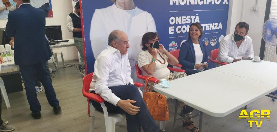 Inaugurazione Comitato elettorale Monica Picca, Matteo Salvini, Enrico Michetti, Simonetta Matone