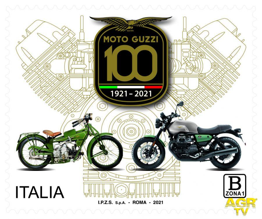 Filatelia, emesso francobollo dedicato alla Moto Guzzi