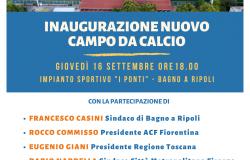 Bagno a Ripoli, inaugurazione nuovo campo sportivo ai Ponti con Rocco Commisso, Giani, Nardella e Lotti