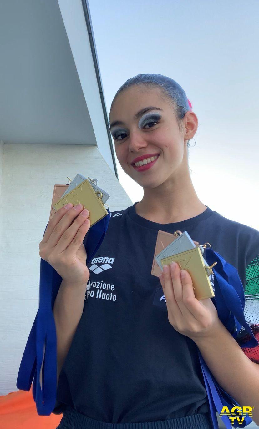 Montemurlo. Ginevra Marchetti conquista l'oro ai campionati europei di nuoto sincronizzato e riporta in Italia la Coppa Comen