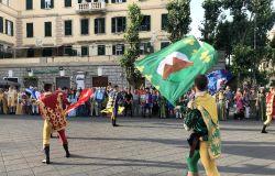 sbandieratori in piazza anco marzio