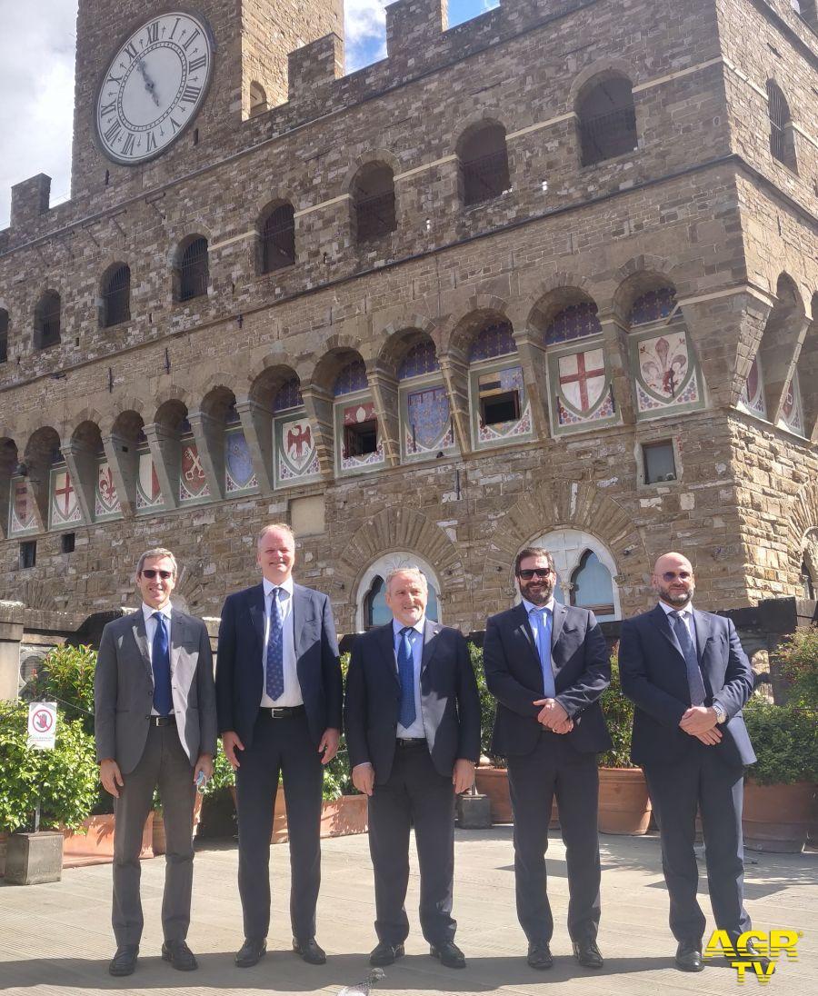 vertici della Repubblica di San Marino in visita agli Uffizi.