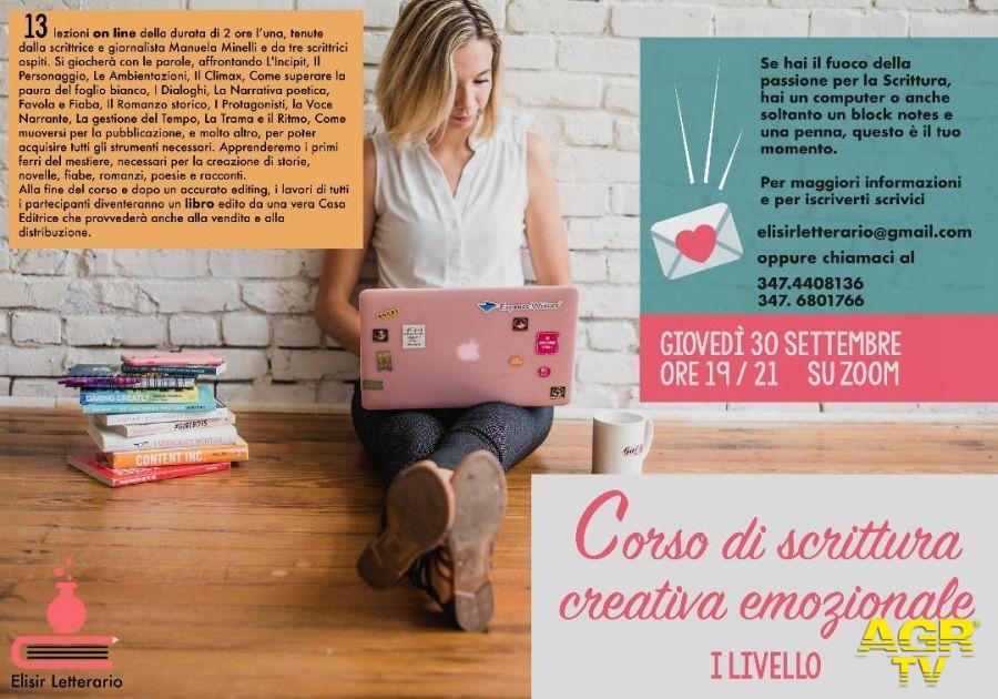 Imparare a scrivere....un libro, Elisir letterario propone Corsi di Scrittura Creativa Emozionale
