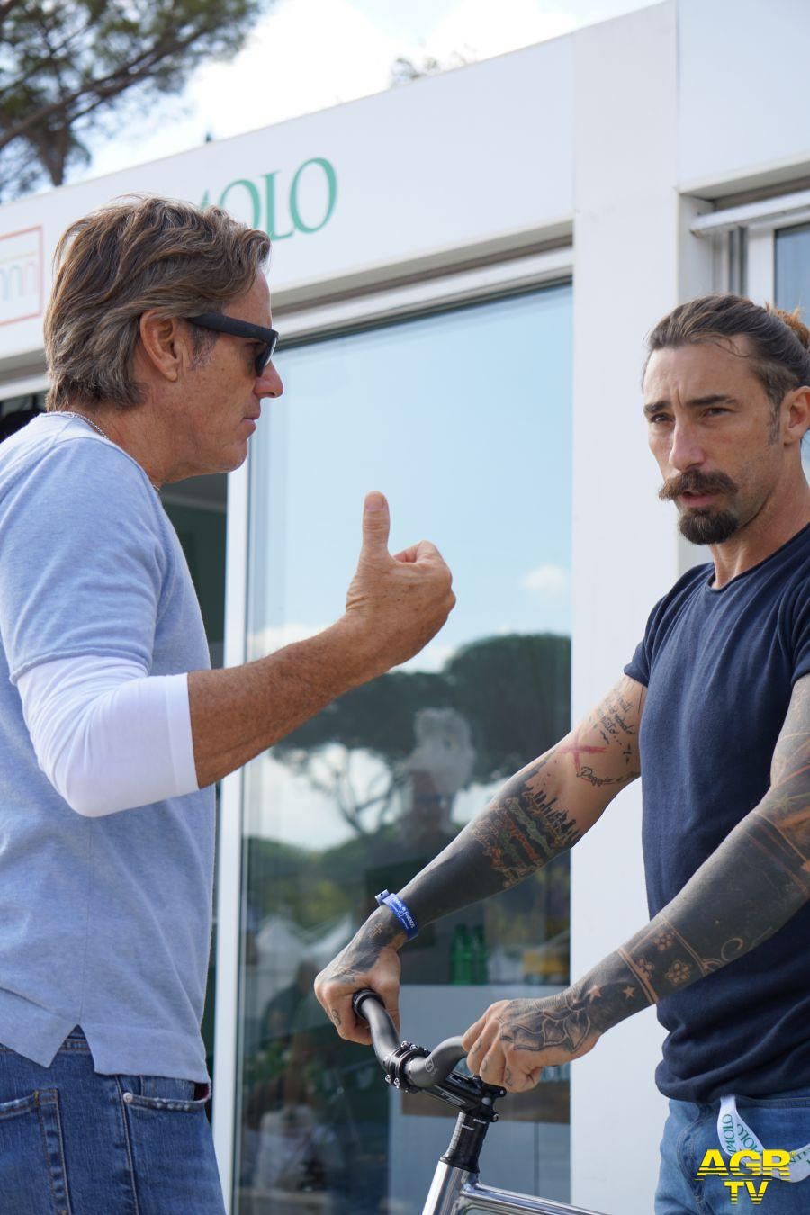 Jimmy Ghione e Vittorio Brumotti (foto AGR)