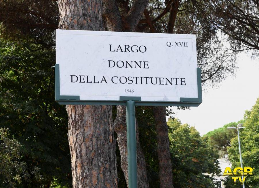 """La Costituzione e l'impegno delle donne, istituito a Roma """"Largo Donne della Costituente 1946"""""""