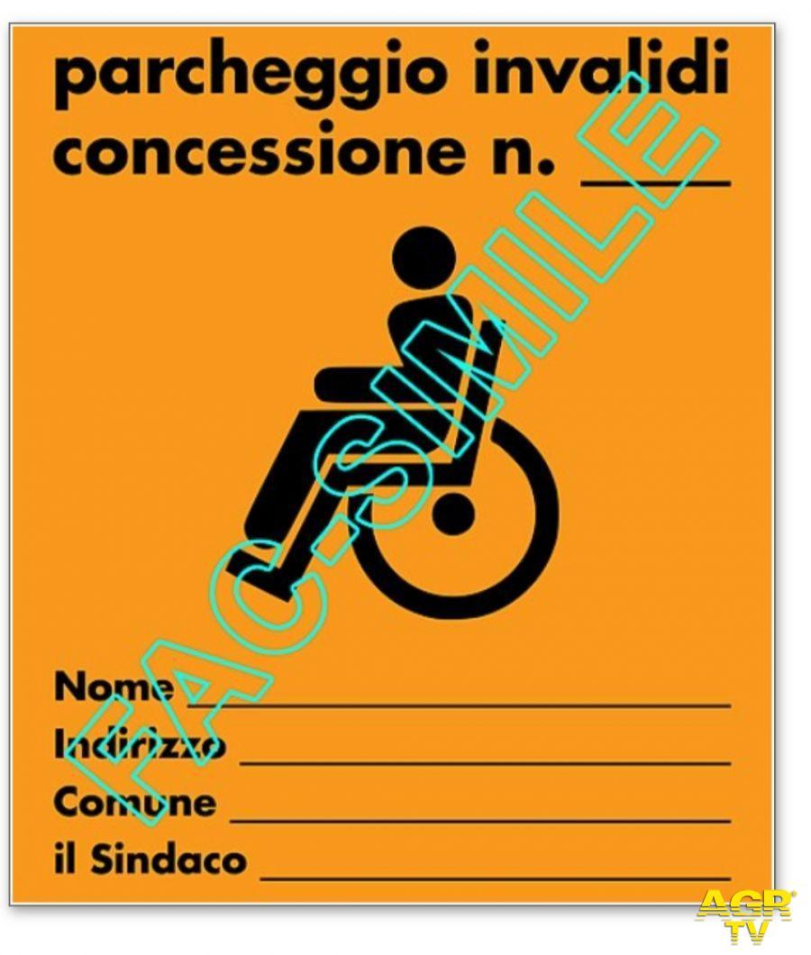 utilizza contrassegno per invalidi falso
