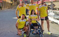 Sara e Paolo Vargetto con la loro squadra di atletica leggera