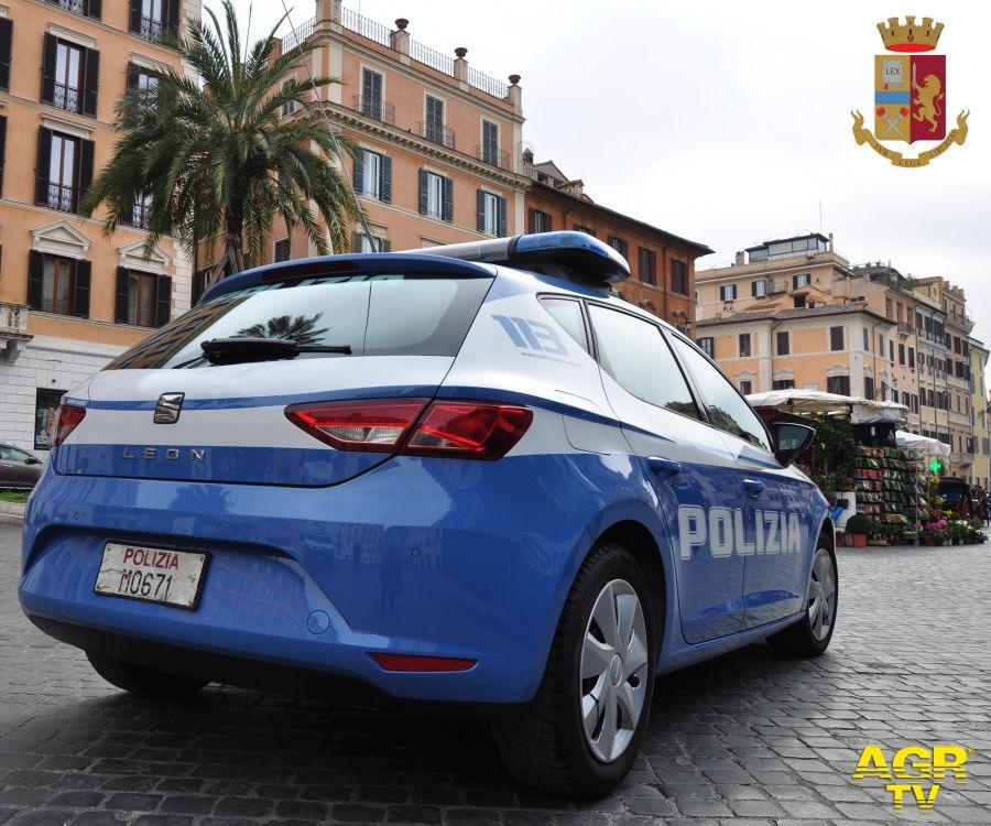 Roma e provincia, giro di vite della polizia nei confronti di furto, spaccio e detenzione di armi