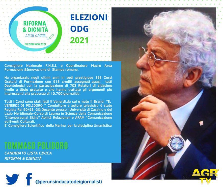 Tommaso POLIDORO candidato a  Consigliere nel Consiglio Regionale dell'Ordine dei Giornalisti del Lazio