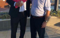 Renzo Pallotta con il senatore Gasparri