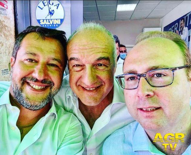 Ostia, Salvini, con Michetti e Bordoni all'ufficio elettorale di via Capitan Consalvo per il sostegno a Monica Picca