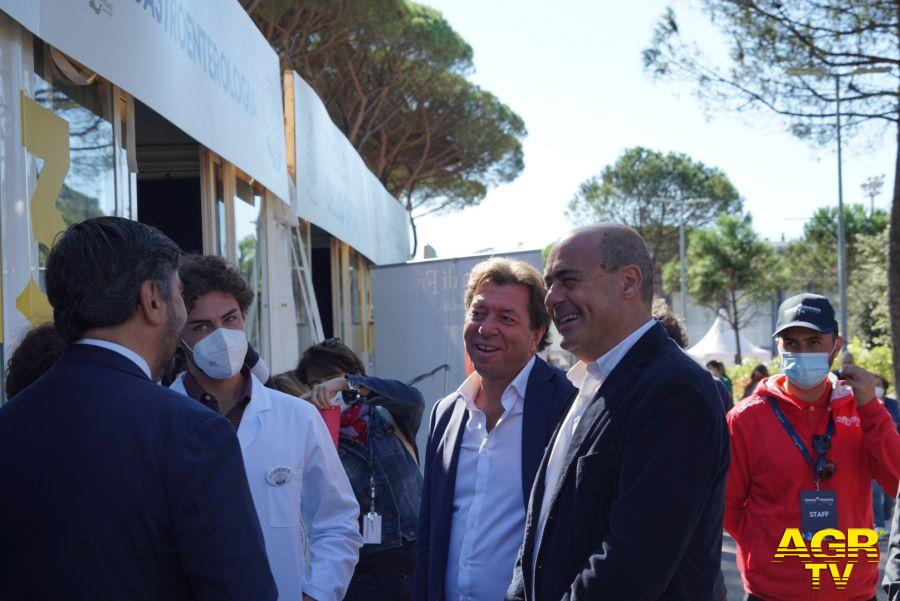 Professore Giorgio Meneschincheri, il Presidente della Regione Lazio Nicola Zingaretti
