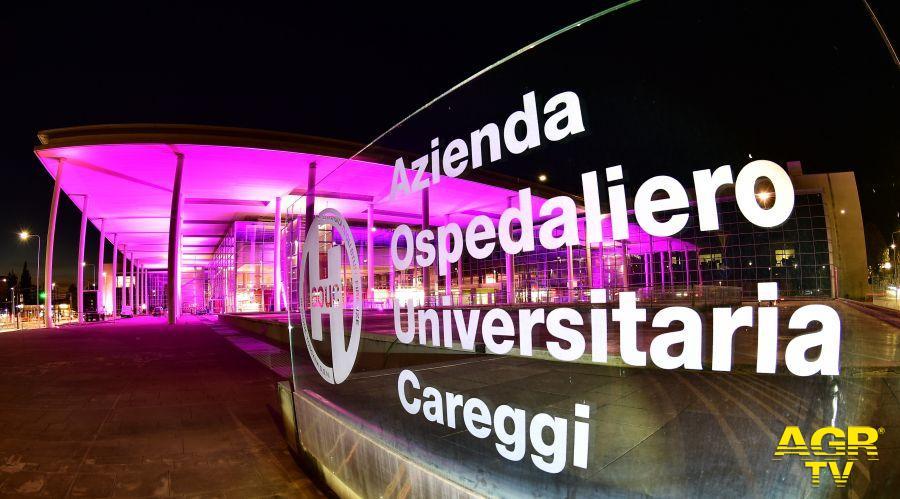 Il Nuovo Ingresso dell'Azienda Careggi si colora di rosa per la lotta contro il tumore al seno