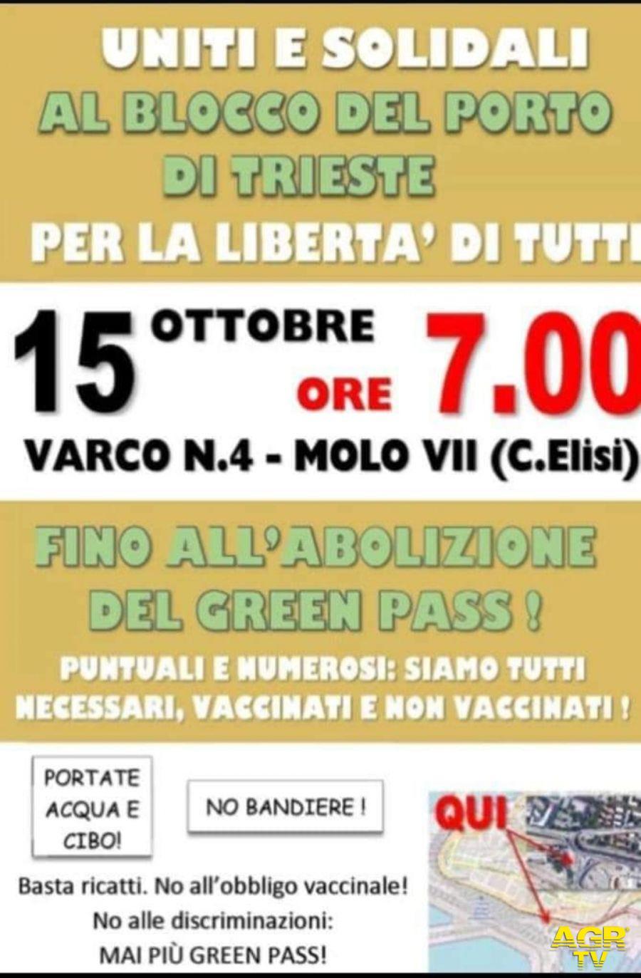 Domani è confermato lo sciopero dei lavoratori Portuali di Trieste