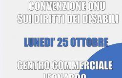 """Centro Commerciale Leonardo, insieme alla Fondazione Foedus, e Primo Consumo, Presentano il seminario  """"Convenzione ONU sui diritti dei disabili"""" ."""