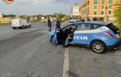 polizia controlli e posti di blocco Casilino